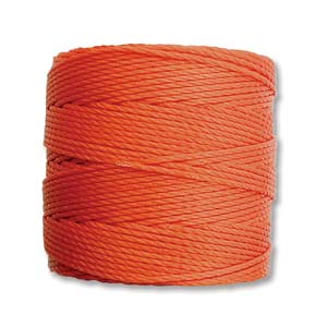 S-Lon Bead Cord, Orange, 77 yards