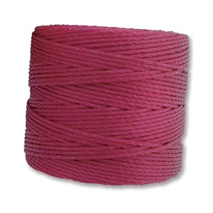 S-Lon Bead Cord, Wineberry, 77 yards