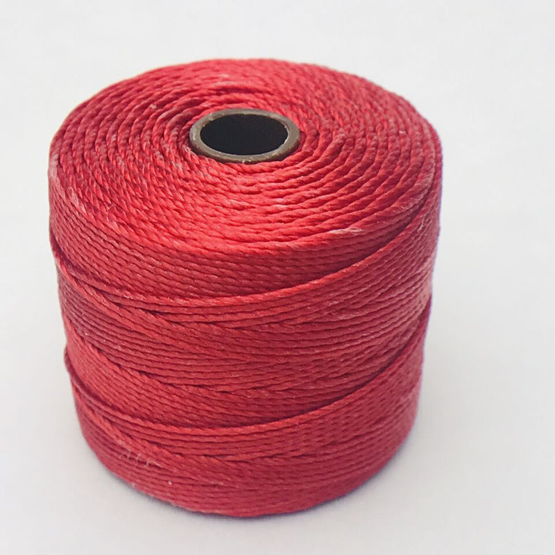 S-Lon Bead Cord, Shanghai Red, 77 yards