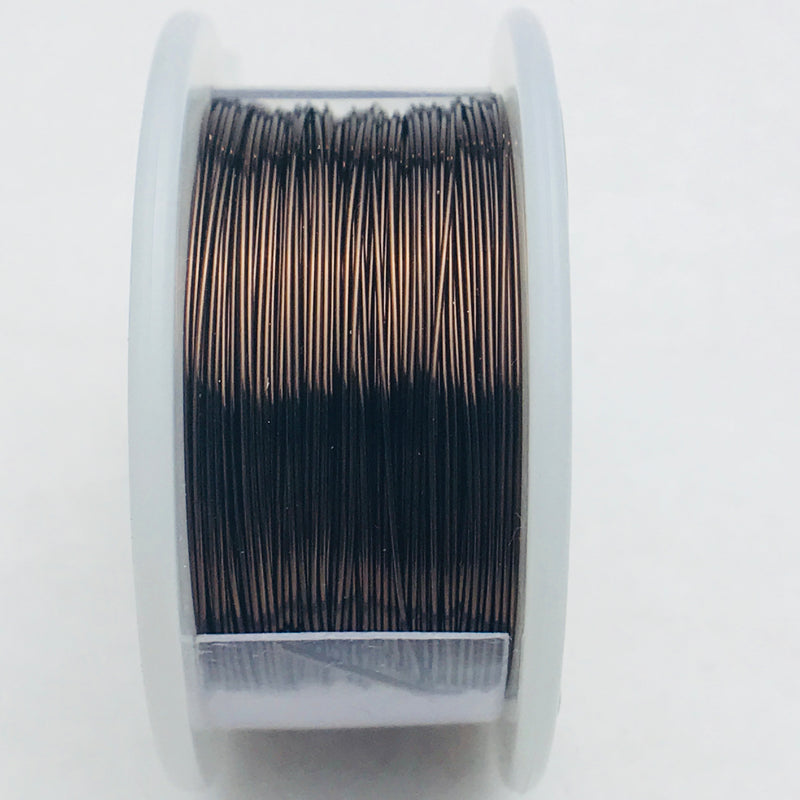 Smoky Quartz Copper Core Wire, Anti-Tarnish