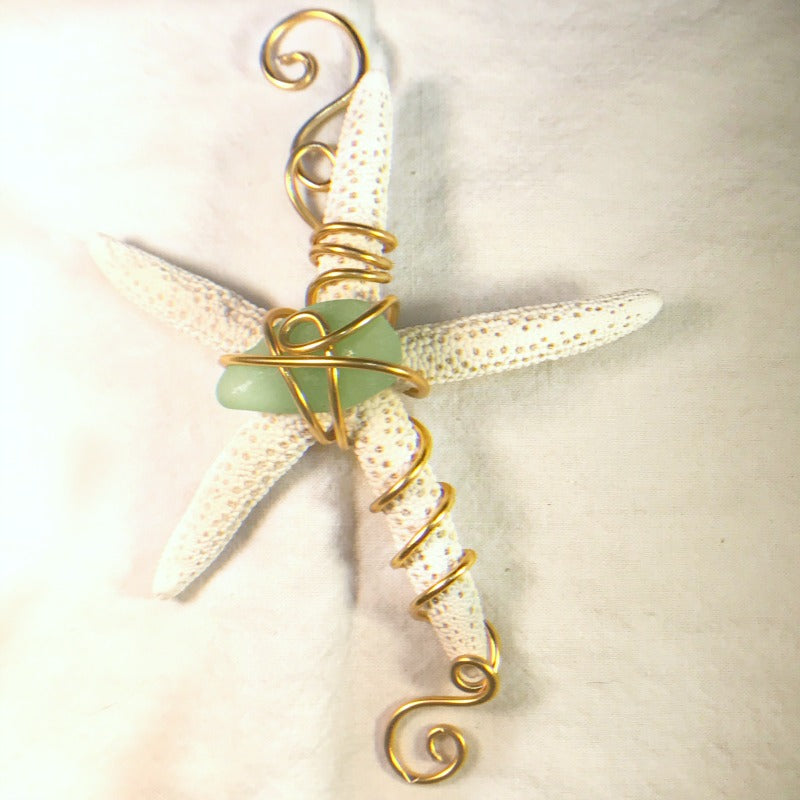 Starfish Ornament Kit - Green & Silver