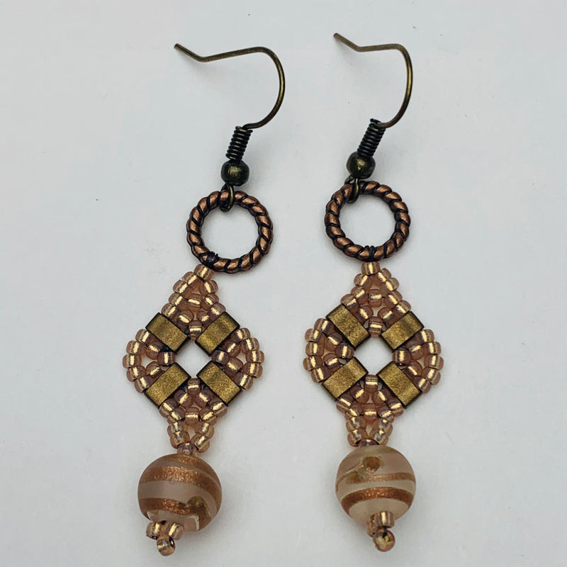 *Stitched Earrings with Sandy  1/21/2020