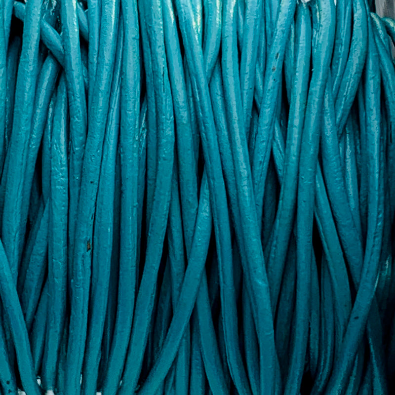Turquoise Leather Cord 3mm, 1 Yard