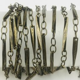 Antique Brass Twisted Bar Chain