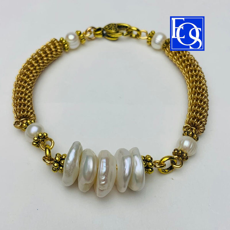 Twisted Wire Beaded Bangle - 3/13/20