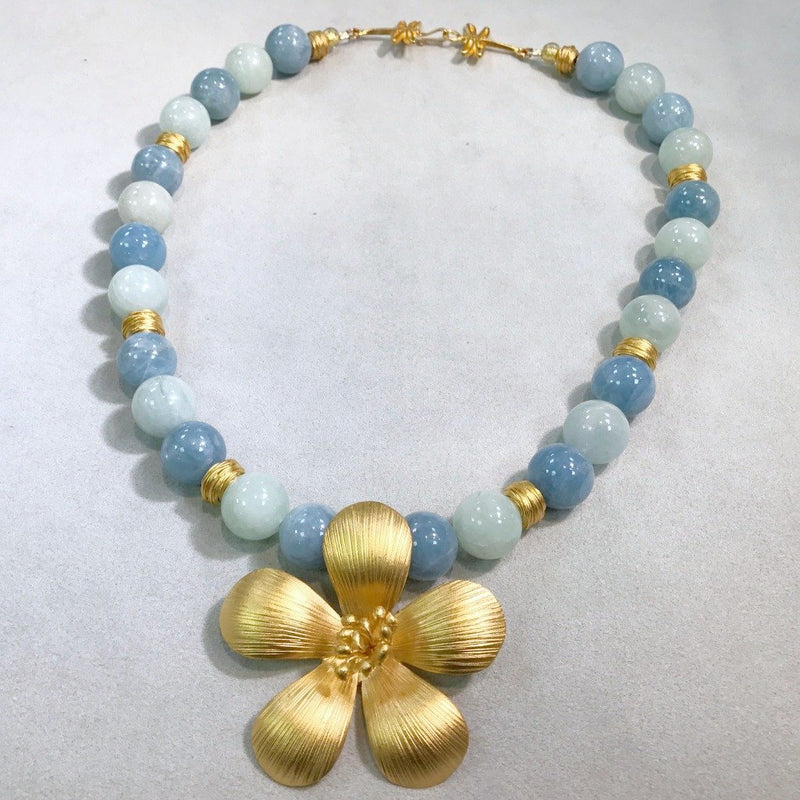 Aquamarine and Vermeil Necklace
