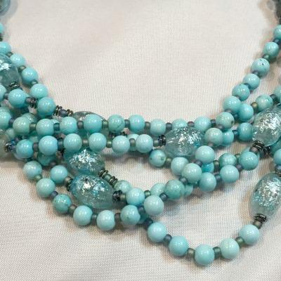 Banded Blue Necklace