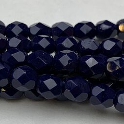 Navy Blue Fire Polish 6mm