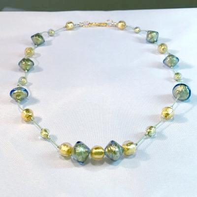Green Gold Venetian Necklace