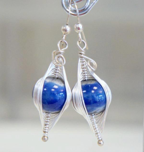 Blue Cocoon Earrings