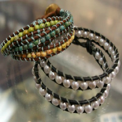 Leather & Bead Wrap Bracelets for Teens 7/24/19