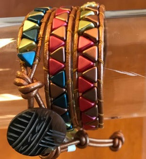 Leather & Bead Wrap Bracelets 5/19/18