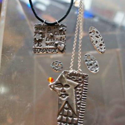 Metal Clay Pendants 10/17 & 10/24