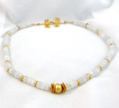 Moonstone and Vermeil Necklace