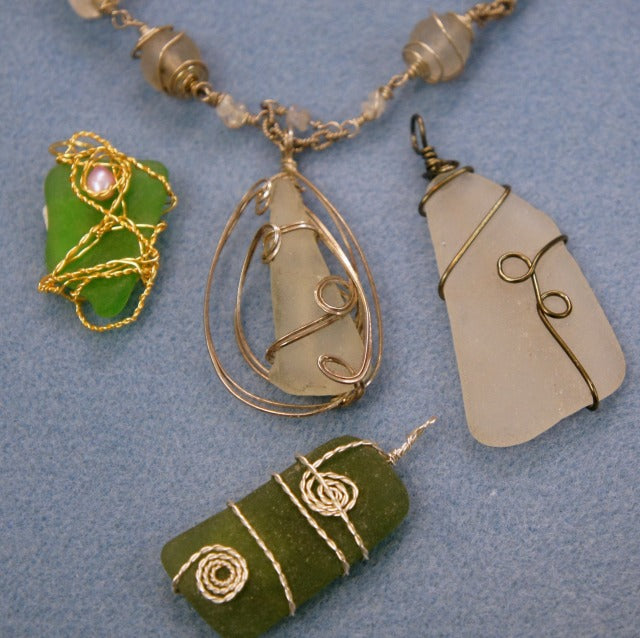 Sea Glass Pendants 7/12/18
