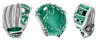 White and Teal A2000 1786 Glove - February 2018