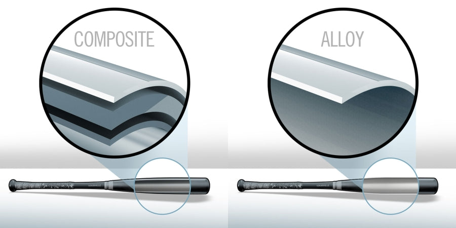 What are the differences between Composite and Alloy Bats