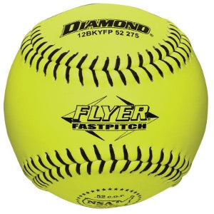 "Diamond NSA Flyer 12"" 52/275 Leather Fastpitch Softballs (Dozen): 12BKYFP"