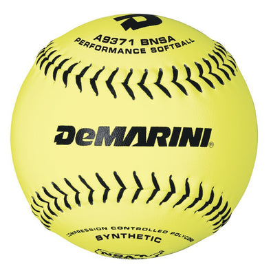 "DeMarini NSA OS 11"" 52/275 Synthetic Slowpitch Softballs (Dozen): WTA9371BNSA"