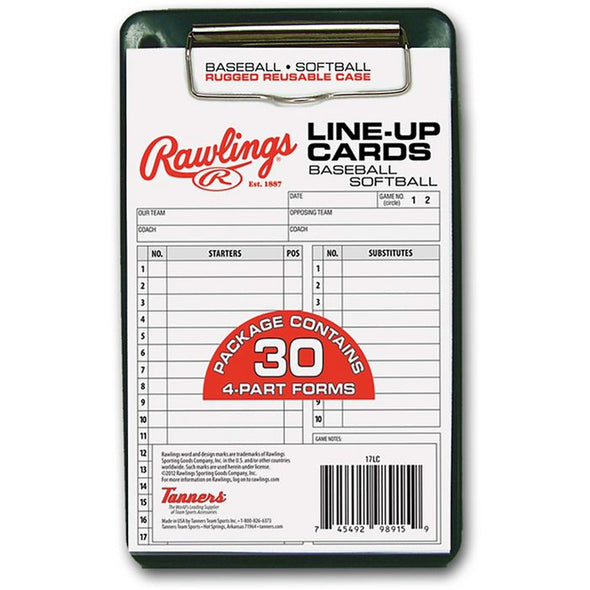 Rawlings Line Up Cards (12 Pack): 17LU12PK