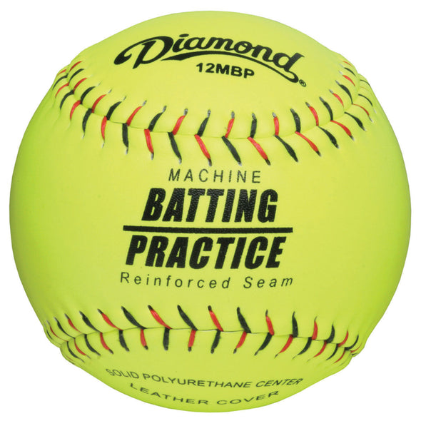 "Diamond Machine Batting Practice 12"" Leather Fastpitch Softballs: 12MBP"