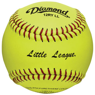 "Diamond Little League 12"" 47/375 Leather Fastpitch Softballs: 12RY LL"