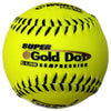 "Worth NSA Super Gold Dot ICON 12"" 44/400 Synthetic Slowpitch Softballs: NI12SY"
