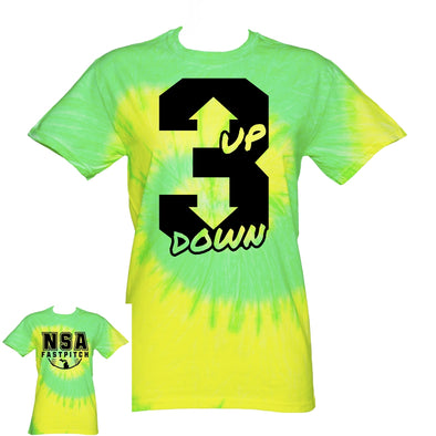 DSG Apparel 3 Up 3 Down Tie Dye T-Shirt: TD-3UP3DN