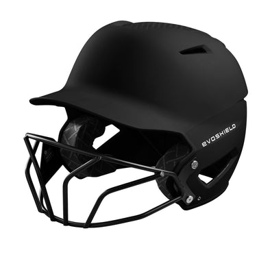 EvoShield XVT Matte Batting Helmet with Fastpitch Mask: WTV7135