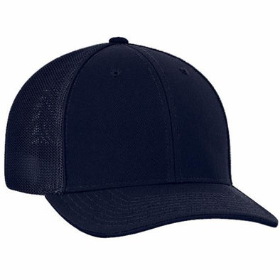 Pacific Headwear Flex Fit Trucker Umpire Hat: 404M