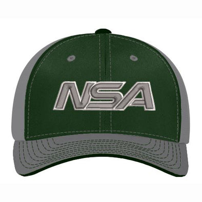 Pacific Headwear NSA Dark Green / Graphite Flex Fit Hat: 404M-DGGR