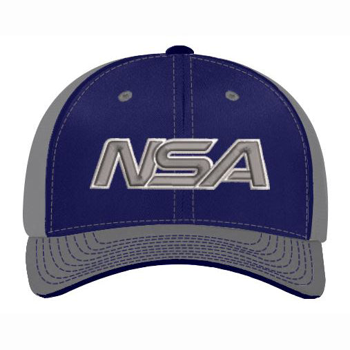 Pacific Headwear NSA Navy / Graphite Flex Fit Hat: 404M-NVGR