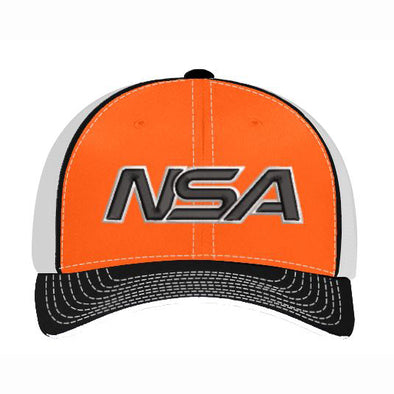 Pacific Headwear NSA Orange / Black Flex Fit Hat: 404M-ORBK