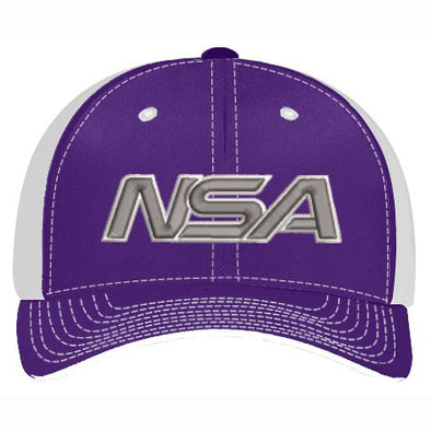 Pacific Headwear NSA Purple / White Flex Fit Hat: 404M-PUWH