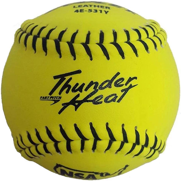 "Dudley NSA Thunder Heat 11"" 47/375 Leather Fastpitch Softballs: 4E-531Y"