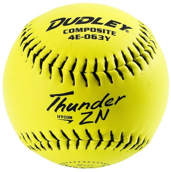 "Dudley NSA Thunder ZN Hycon 11"" 52/275 Composite Slowpitch Softballs: 4E-063Y"