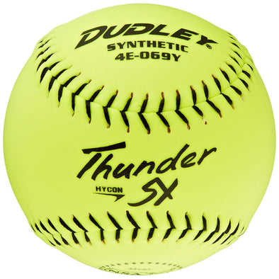 "Dudley NSA Thunder SY Hycon 12"" 52/275 Synthetic Slowpitch Softballs (Dozen): 4E-069Y"