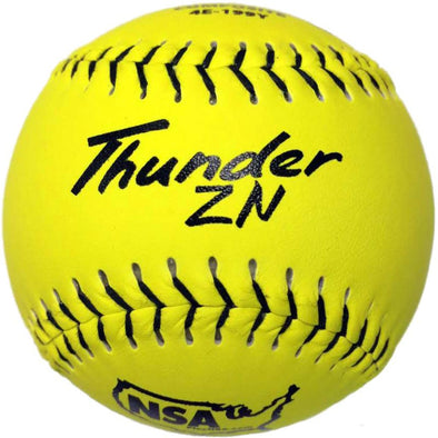 "Dudley NSA Thunder ZN ICON 12"" 44/400 Composite Slowpitch Softballs (Dozen): 4E-199Y"