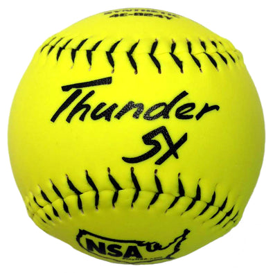 "Dudley NSA Thunder SY ICON 12"" 44/400 Synthetic Slowpitch Softballs (Dozen): 4E-824Y"