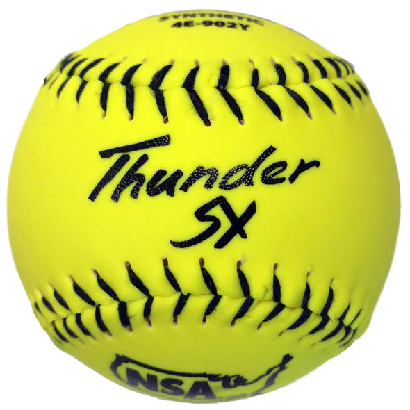 "Dudley NSA Thunder SY ICON 11"" 44/400 Synthetic Slowpitch Softballs (Dozen): 4E-902Y"