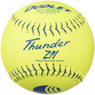 "Dudley USSSA Thunder ZN Classic M 12"" 40/325 Composite Slowpitch Softballs: 4U-540Y"
