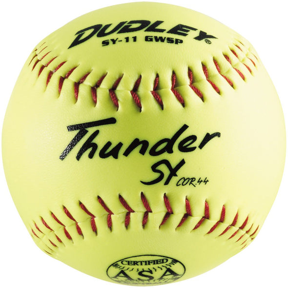 "Dudley ASA Thunder SY 11"" 44/375 Synthetic Slowpitch Softball (Dozen):  4A-722N"