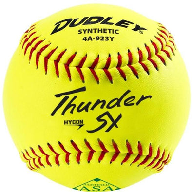 "Dudley ASA Thunder SY Hycon 11"" 52/300 Synthetic Slowpitch Softballs (Dozen): 4A-923Y"
