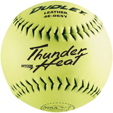 "Dudley NSA Thunder Heat Hycon 12"" 52/275 Leather Slowpitch Softballs (Dozen): 4E-065Y"