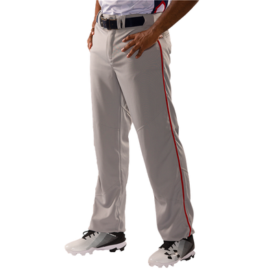 Alleson Youth Crush Open Bottom Baseball Pants with Piping: 655WLBY