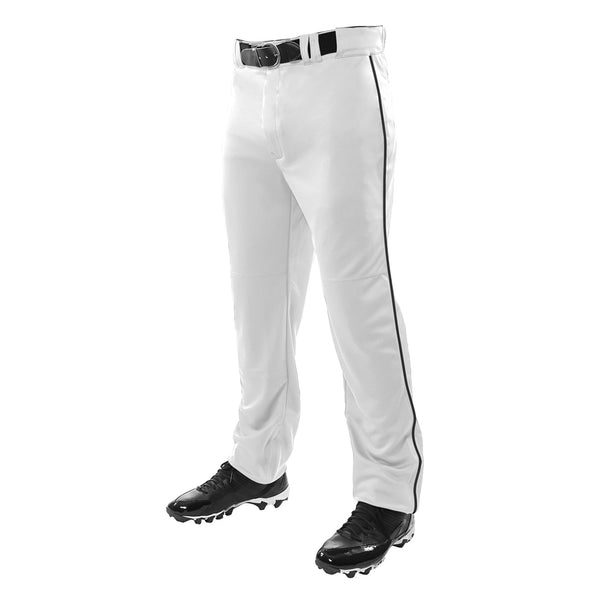 Champro Sports Adult Triple Crown Open Bottom Baseball Pants with Piping: BP91UA