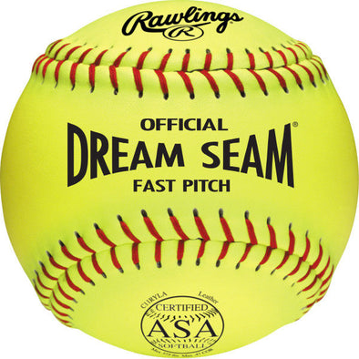 "Rawlings ASA Dream Seam 11"" 47/375 Leather Fastpitch Softballs: C11RYLA"