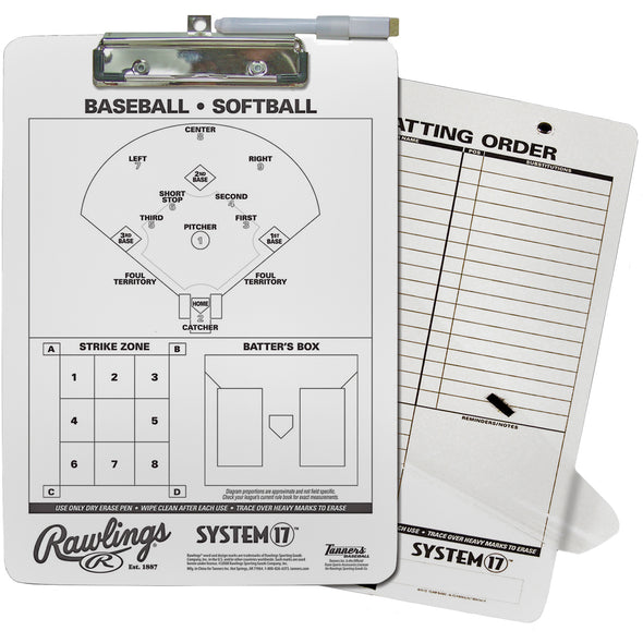 Rawlings Coaches Dry Erase Clip Board: CLIP