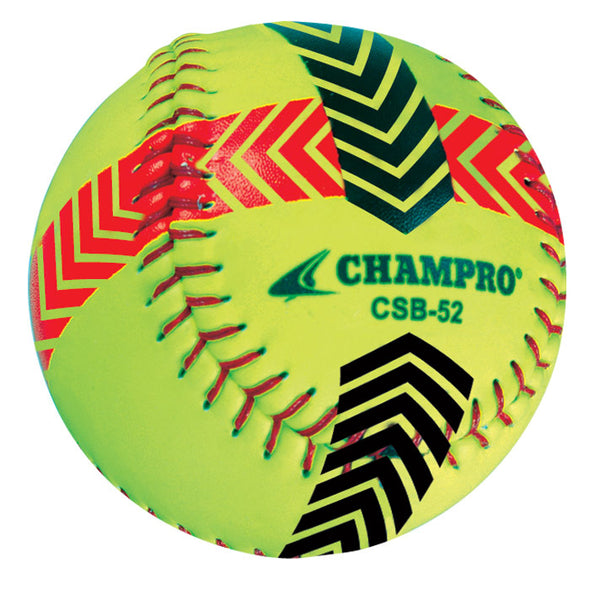 Champro Sports Striped Training Softballs (Set of 2): CSB52S
