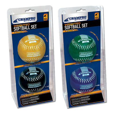 Champro Sports Weighted Training Softball Set (2 Pack): CSB7AS / CSB7BS